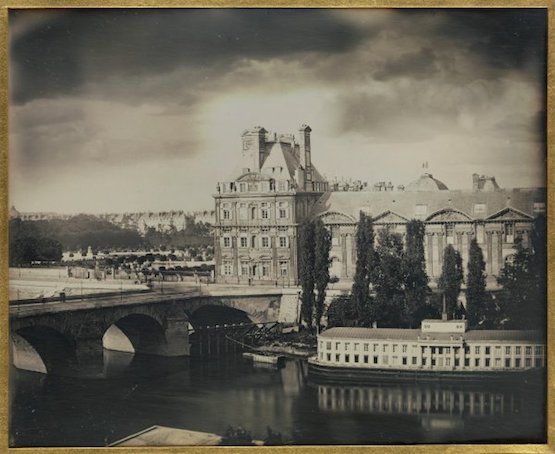Le pavillon de Flore et le Pont-Royal, septembre 1849