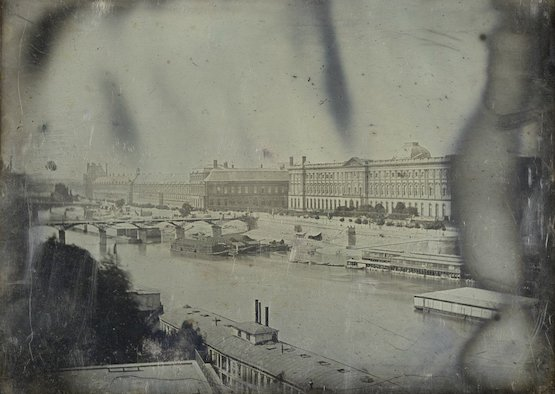 La Seine du Pont Neuf, en 1839 soit l'année de la diffusion du procédé par Louis Daguerre !