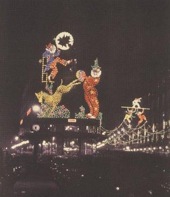 illuminations de noël à paris en 1925