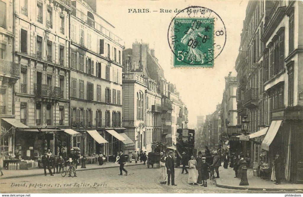 Rue des Martyrs 1910 Paris