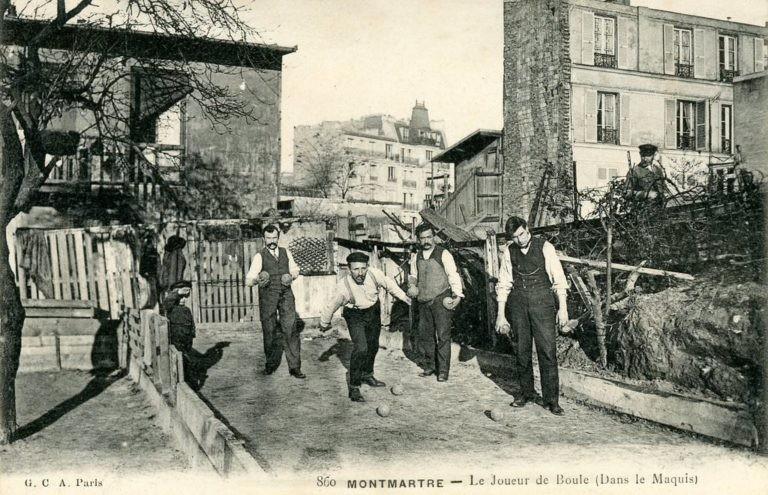 clubs de pétanque de Montmartre