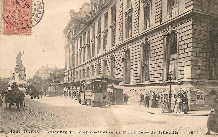 funiculaire de Belleville Paris
