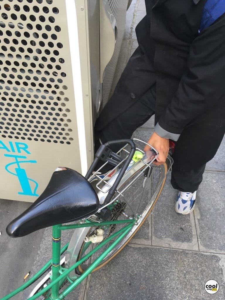 gonfler pneus vélo Paris