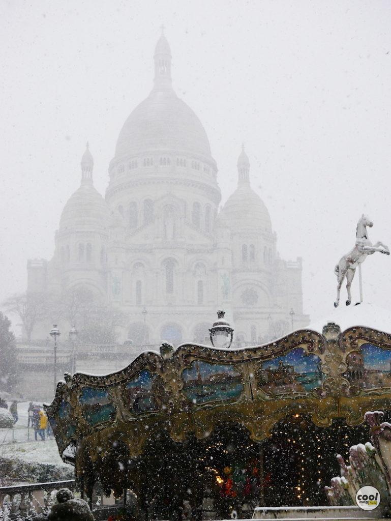 montmartre neige photo