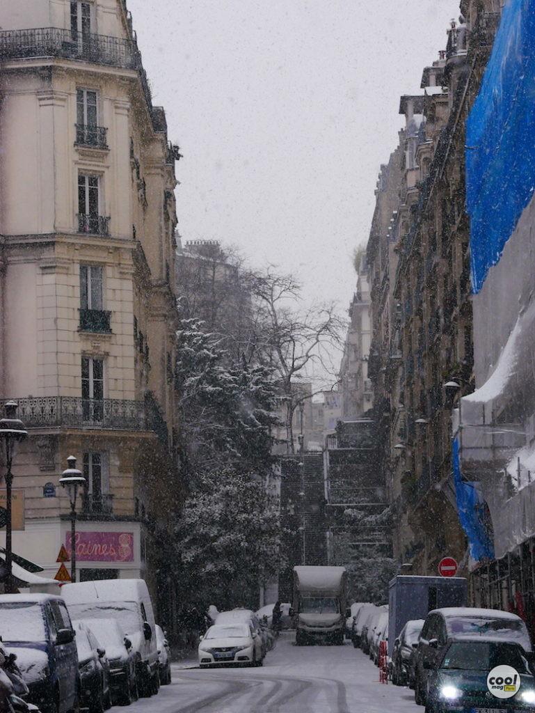 montmartre sous la neige photos