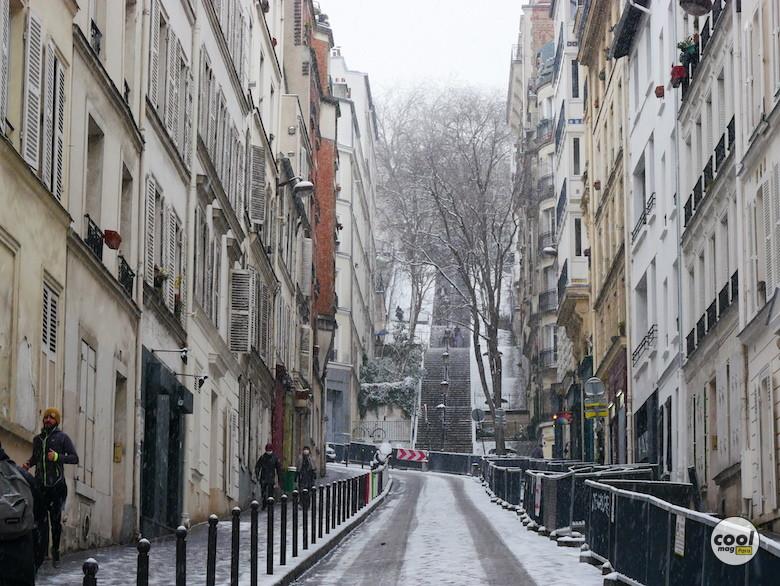 neige photo paris