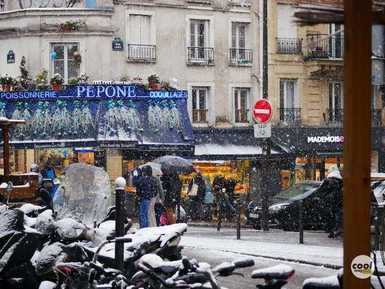 photos paris sous la neige