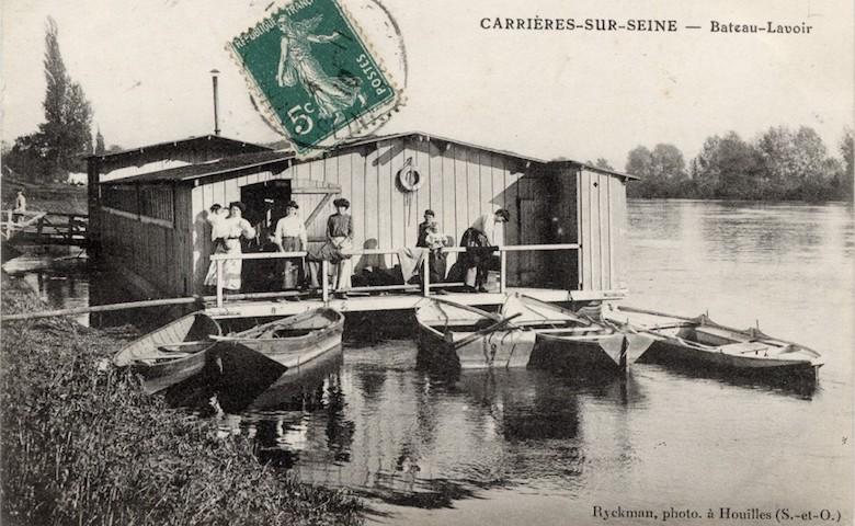 bateaux-lavoirs-publiques-paris-1910-Localisation-Carrières-sur-Seine-cover